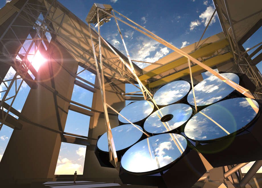 The Giant Magellan Telescope is one of the first three planned of the new generation of these instruments. Photo: GMTO Corporation / ONLINE_YES