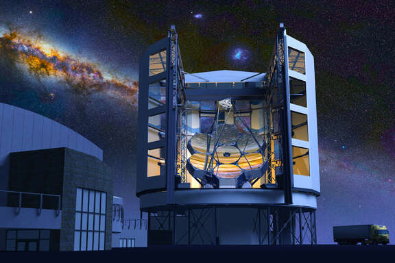 The Giant Magellan Telescope is planned to be so large that its enclosure, slated to be built atop a mountain in a Chilean desert, would tower above the Astrodome.