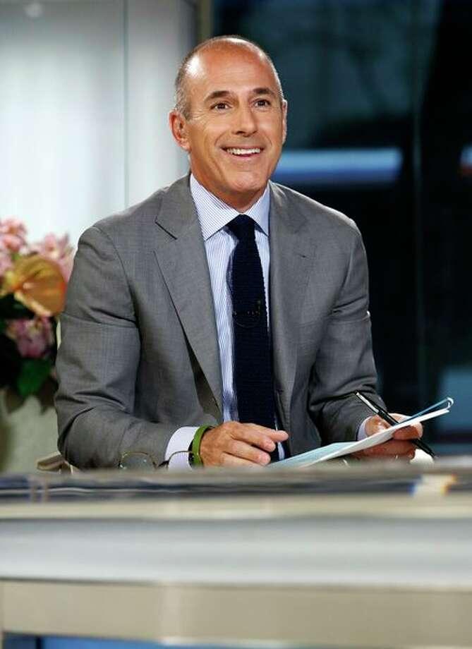 Matt Lauer, NBC: $22-25 million per year NEWS Photo: NBC NewsWire, Peter Kramer/NBC / 2013 NBCUniversal Media, LLC.