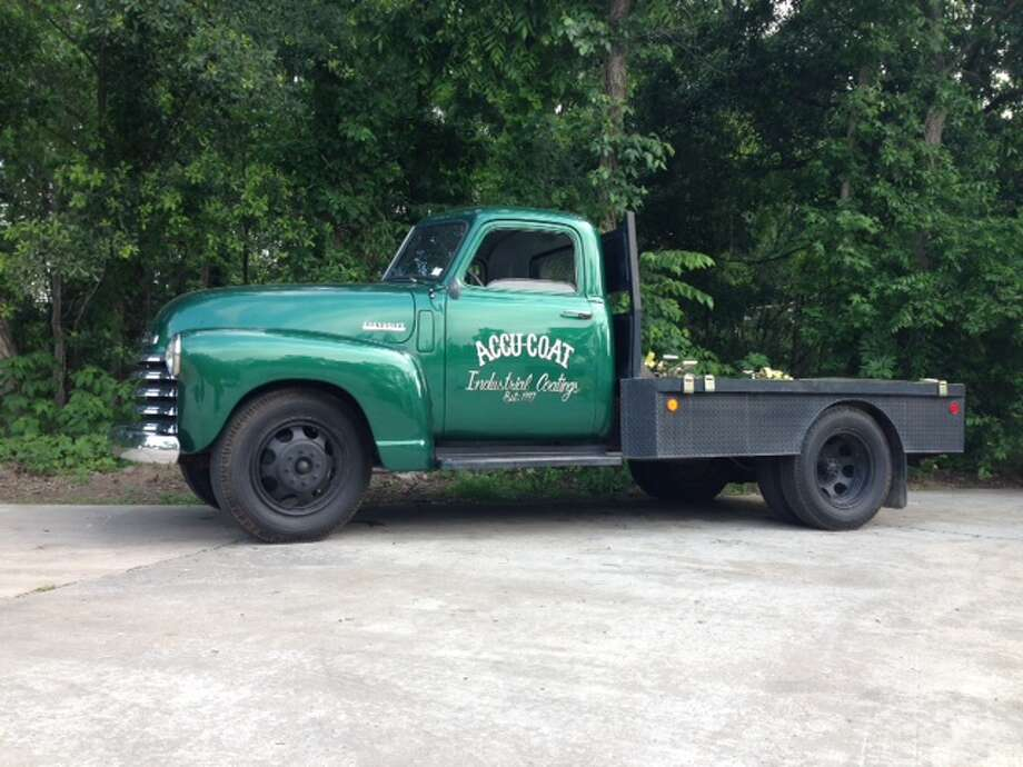 When Darren Davenport, of Accu-Coat Inc. of northeast Houston, needed a new work truck, he picked up this 1950 Chevy 1-ton flatbed pickup that has proved sturdy enough for 60 years or so.