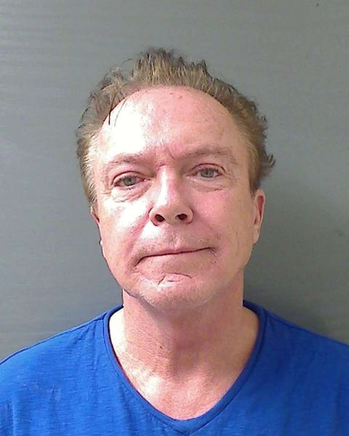 The mugshot from David Cassidy's arrest in Schodack on Tuesday. (Schodack Police Department)