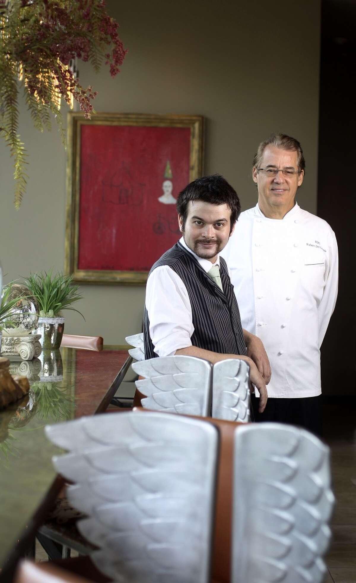 RDG + Bar Annie bar manager Chris Frankel and chef/owner Robert Del Grande at RDG.