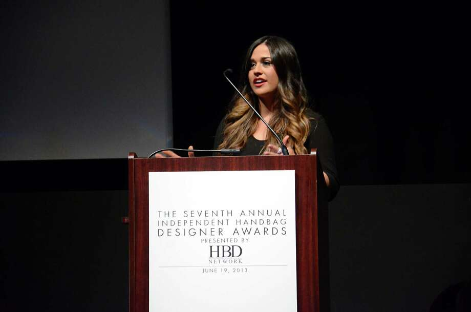 "FOR RELEASE MONDAY, AUGUST 19, 2013, AT 1:00 A.M. CDT - This Wednesday, June 19, 2013 photo released by the Independent Handbag Designers Awards shows Carmen Ortiz at the Seventh Annual Independent Handbag Designer Awards, where she won the award for student-made bag. As part of the award, Ortiz, who turned 22 and graduated May 24 from Parsons The New School for Design in New York, gets a ""virtual internship"" with Charming Charlie, a fashion accessories retailer with more than 250 stores. (AP Photo/Independent Handbag Designers Awards, Andrew Werner) Photo: Andrew Werner, Associated Press / Independent Handbag Designers Aw"