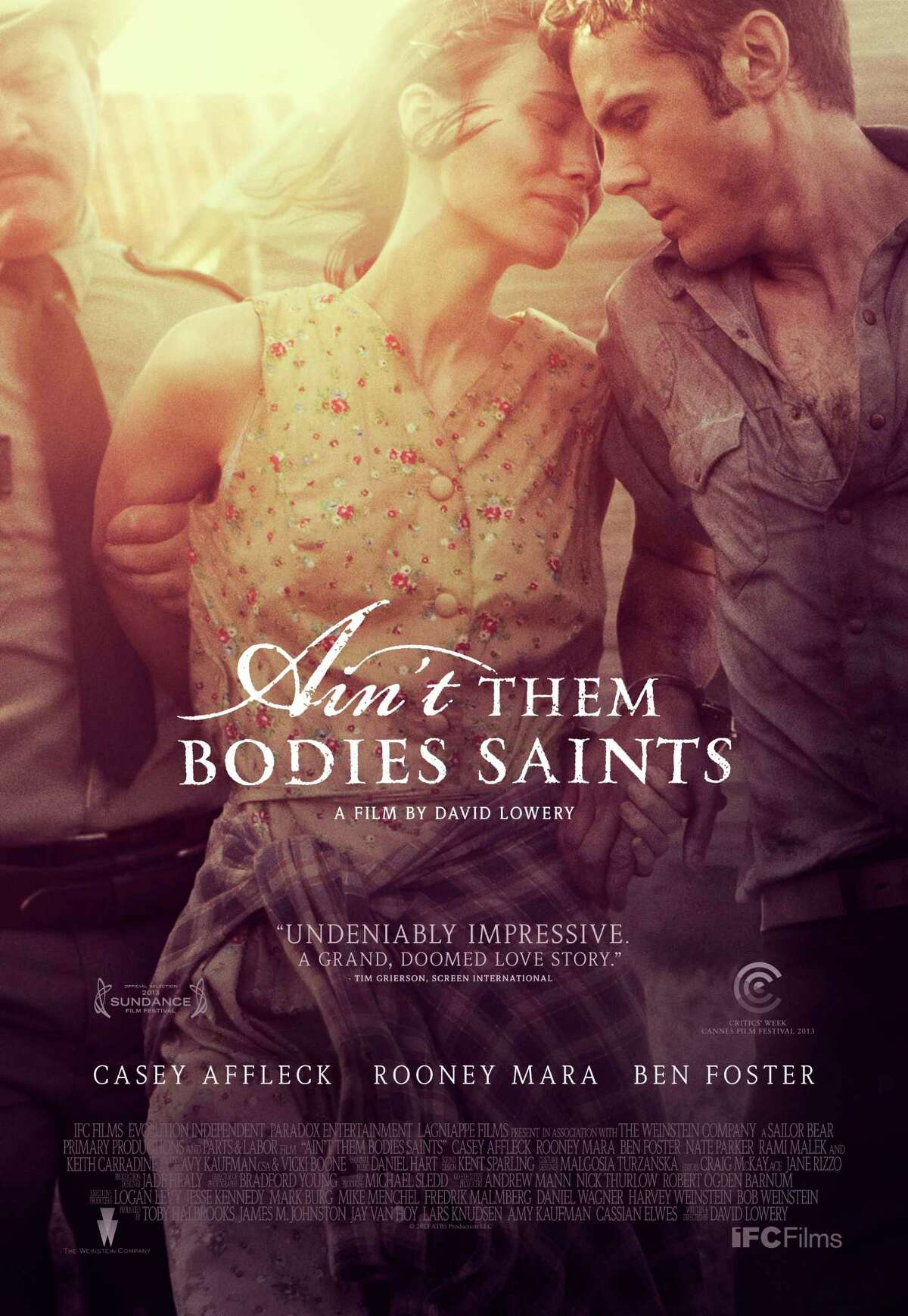 Rooney Mara and Casey Affleck as outlaws on the run in Ain't Them Bodies Saints, a film by David Lowery