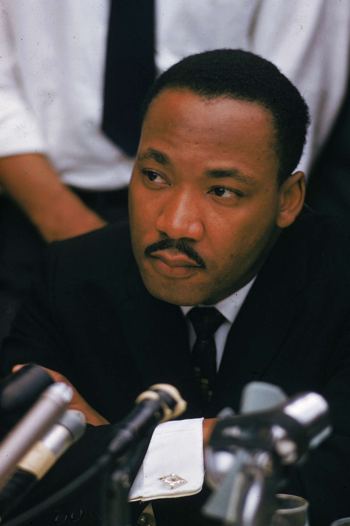 American clergyman and civil rights activist Martin Luther King Jnr (1929 - 1968) makes a public address in Birmingham, Alabama.