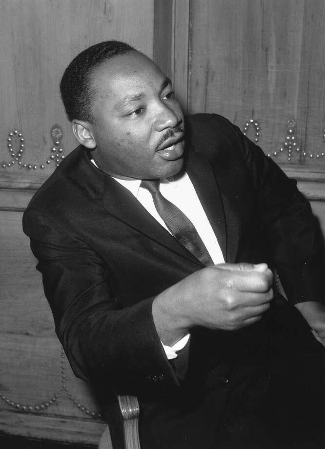 Rev. Martin Luther King, Jr. giving a press conference at the Savoy Hotel in London. Photo: Roger Jackson, Getty Images / Hulton Archive