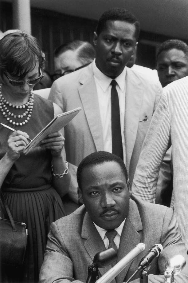 American civil rights leader Rev. Martin Luther King Jr. at a press conference in Birmingham, Alabama in 1963. Photo: Ernst Haas, Getty Images / Ernst Haas