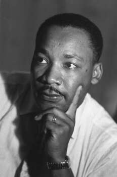 Rev. Martin Luther King Jr. on the morning of the Freedom Riders' bus trip from Montgomery, Alabama to Jackson, Mississippi. Photo: Lee Lockwood, Time & Life Pictures/Getty Image / Lee Lockwood