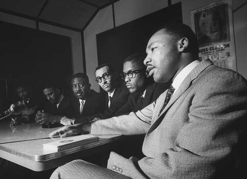 Rev. Martin Luther King Jr. and Ralph D. Abernathy, meeting about the 'Freedom Riders' crisis. Photo: Lynn Pelham, Time & Life Pictures/Getty Image / Lynn Pelham