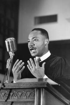 Civil Rights activist Rev. Rev. Martin Luther King Jr. gesturing during sermon at Ebenezer Baptist Church in 1960. Photo: Donald Uhrbrock, Time & Life Pictures/Getty Image / Donald Uhrbrock