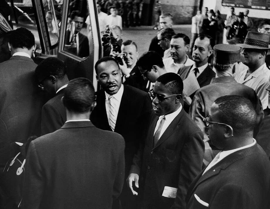 Rev. Martin Luther King Jr.  with Freedom Riders in 1961. Photo: Paul Schutzer, Time & Life Pictures/Getty Image / Time Life Pictures