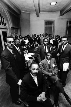 Portrait of the attendees at a conference about a sit-in movement by student leaders and their mentors, including Rev. Martin Luther King Jr., Raleigh, North Carolina, April 1960. Photo: Donald Uhrbrock, Time & Life Pictures/Getty Image / Donald Uhrbrock