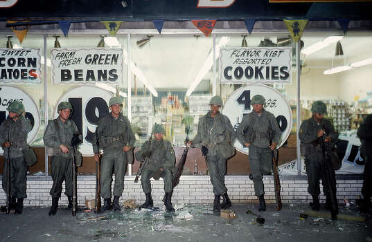 National Guardsmen standing in front of store during riots following murder of Rev. Martin Luther King Jr. Photo: Lee Balterman, Time & Life Pictures/Getty Image / Time Life Pictures