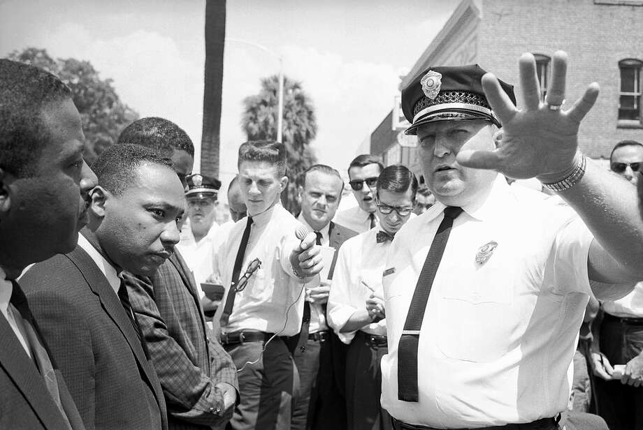Police chief Laurie Pritchett arresting anti-segregation demonstrators including Rev. Martin Luther King Jr. in 1961. Photo: Donald Uhrbrock, Time & Life Pictures/Getty Image / Donald Uhrbrock