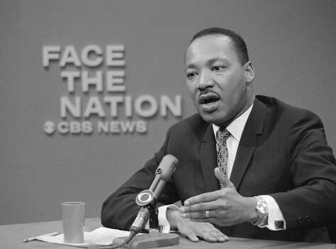 American civil rights leader Reverend Rev. Martin Luther King Jr. appears on the television news program 'Face The Nation,' April 16, 1967. Photo: CBS Photo Archive, Getty Images / 2004 CBS WORLDWIDE INC.