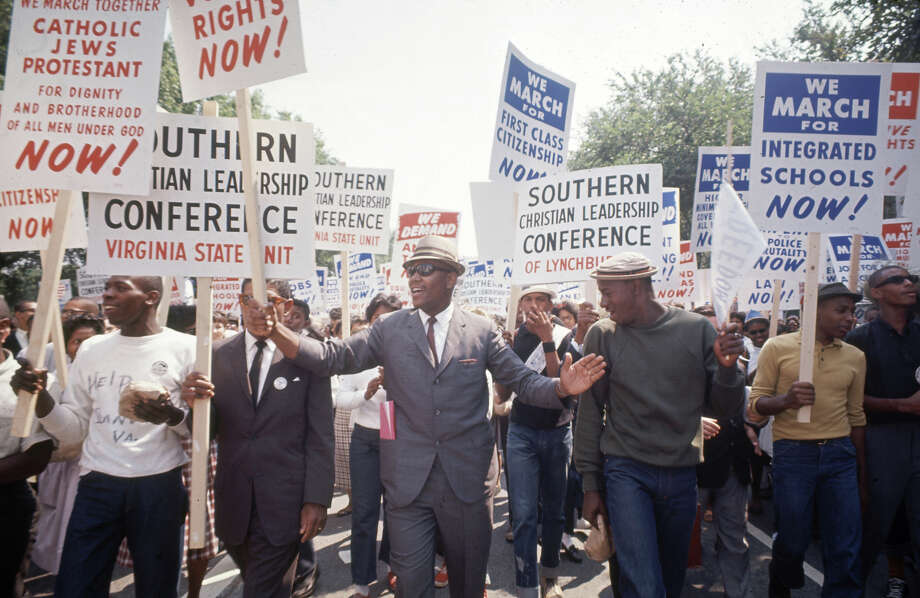 View of participants during the March on Washington for Jobs and Freedom, Washington DC, August 23, 1963. The march provided the setting for Rev. Marin Luther King Jr.'s iconic 'I Have a Dream' speech. Photo: Paul Schutzer, Time & Life Pictures/Getty Image / Time & Life Pictures