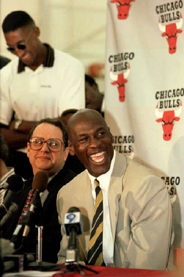 Michael Jordan After three straight championships and NBA Finals MVP awards, MJ retired in 1993 at the age of 30 to give professional baseball a shot. It didn't go well, and the Chicago Bulls superstar returned to basketball in 1995. Photo: EUGENE GARCIA, AFP/Getty Images / AFP