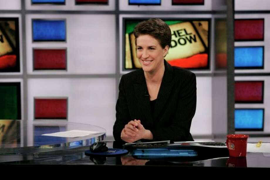 Rachel Maddow, MSNBC: She hosts most-watched program on cable TV news.  Photo: Virginia Sherwood, © MSNBC / © NBC Universal, Inc. -- FOR EDITORIAL USE ONLY -- NOT FOR RESALE -- DO NOT ARCHIVE