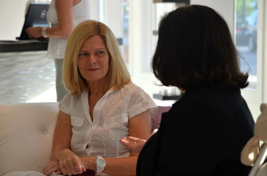 Darien native Mary Simses at a recent Ladies Who Launch Connecticut event. Photo: Megan Spicer
