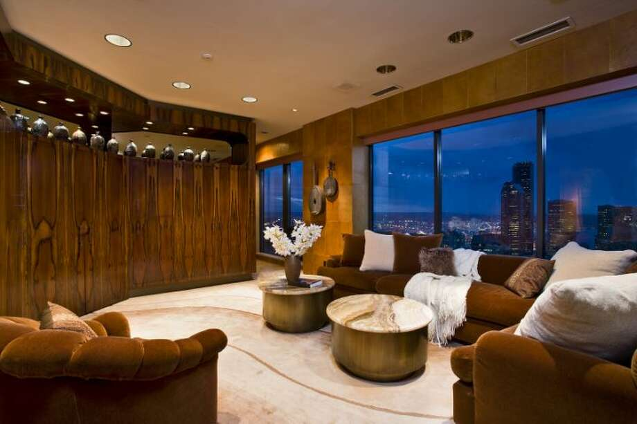 Den of 1301 Spring St., unit 3200. It's listed for $4.7 million. Photo: Courtesy Catherine Adams, Windermere Real Estate