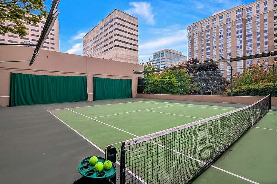 Tennis court of First Hill Plaza, at 1301 Spring St. Photo: Courtesy Catherine Adams, Windermere Real Estate