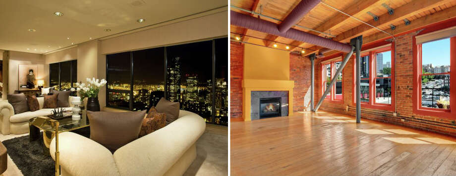 Two distinctive penthouses just hit the market on the edges of Downtown Seattle, giving high-end urbanites the choice between a lush home in First Hill and an industrial loft in Pioneer Square. Click on for virtual tours of both. Photo: Courtesy Catherine Adams,  Jeff J. Reynolds,  Windermere Real Estate