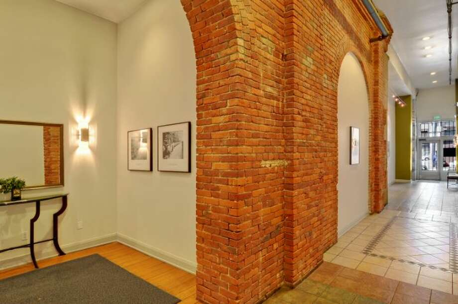 Lobby of 210 3rd Ave. S., in Pioneer Square. Photo: Courtesy Jeff J. Reynolds, Windermere Real Estate