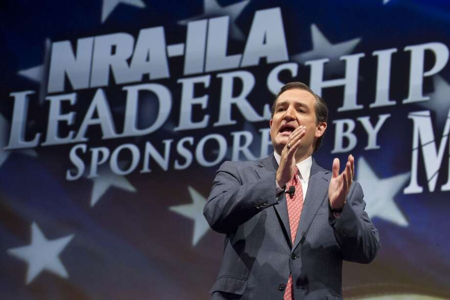 Sen. Ted Cruz, R-Texas, speaks during the leadership forum at the National Rifle Association's annual meeting Friday, May 3, 2013 in Houston. (AP Photo/Steve Ueckert) Photo: Associated Press