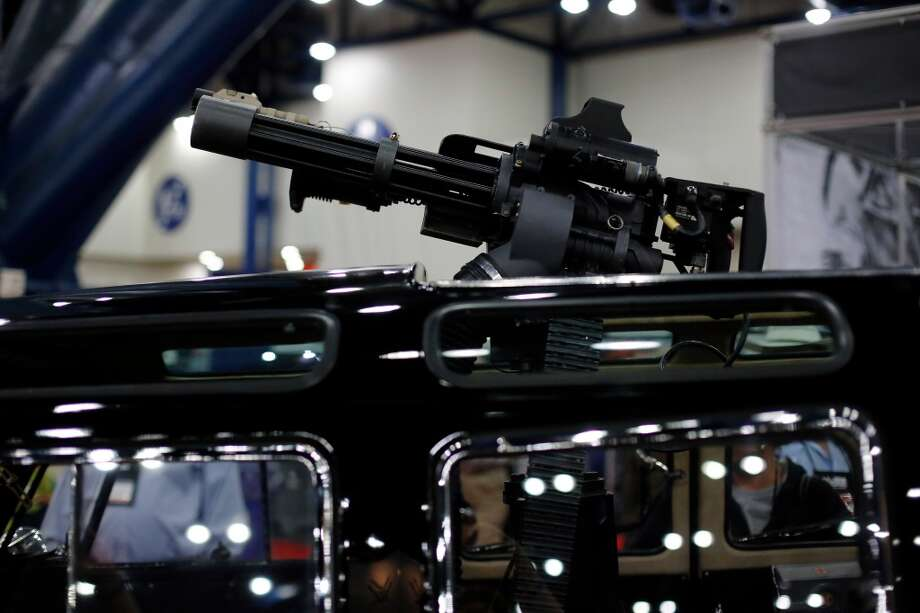 A VW van with a mounted machine gun is seen, during day 1 of the 142nd NRA annual meetings and exhibits, Friday, May 3, 2013 at the George R Brown convention center in  (TODD SPOTH FOR THE CHRONICLE) Photo: © TODD SPOTH, 2013