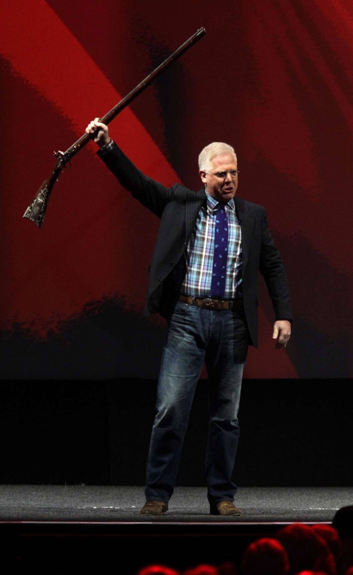 Glenn Beck speaks during the NRA convention at the George R. Brown Convention Center Saturday, May 4, 2013, in Houston. ( Melissa Phillip / Houston Chronicle )