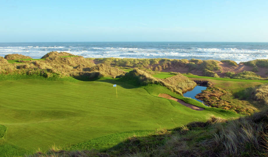 The Trump International Golf Links is a new golfing destination on 1,400 acres of sand dunes on the north coast of Scotland. Photo: Trump