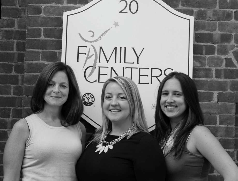Offering tips on separation anxiety are, from left, Annie Yantorno, Site Manager of the Gateway Preschool; Kate McCallum of the Arch Street Preschool; and Alex Fichter, Site Manager of the Joan Melber Warburg Early Childhood Center. Photo: Contributed Photo