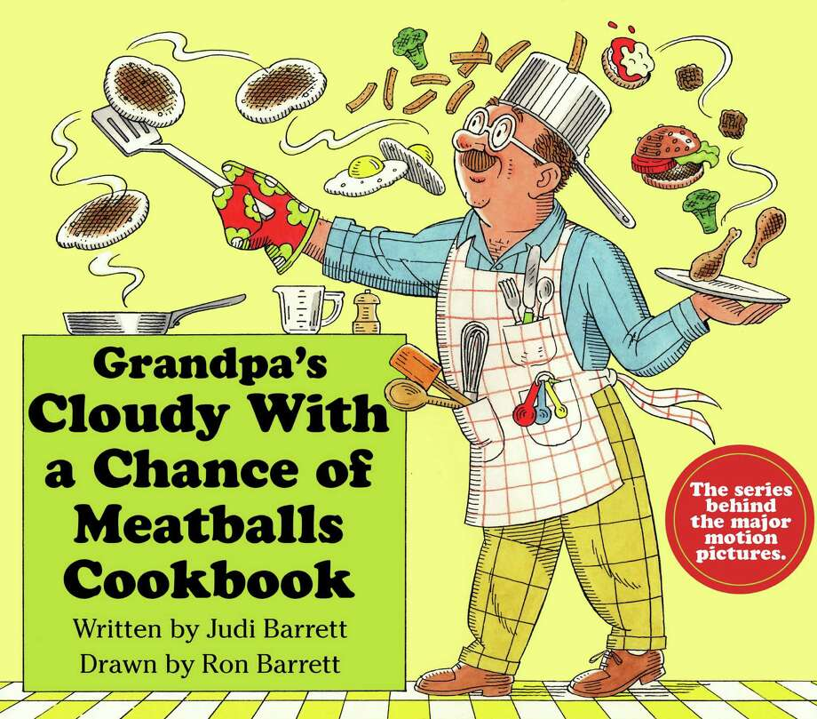 """Kent author Judi Barrett will sign her new books, """"Grandpa's Cloudy With a Chance of Meatballs Cookbook,""""  shown here, and """"Cloudy With a Chance of Meatballs 3: Planet of the Pies,"""" on Saturday, Aug. 31, at House of Books in Kent. Photo: Contributed Photo"""