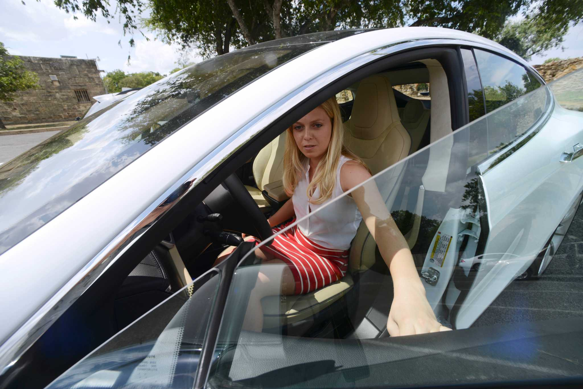 Tesla Test Drive San Antonio Express News