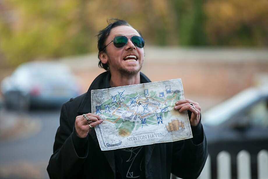 "Gary (Simon Pegg)  leads a wild pub crawl in ""The World's End."" Photo:  Laurie Sparham, Focus Features"