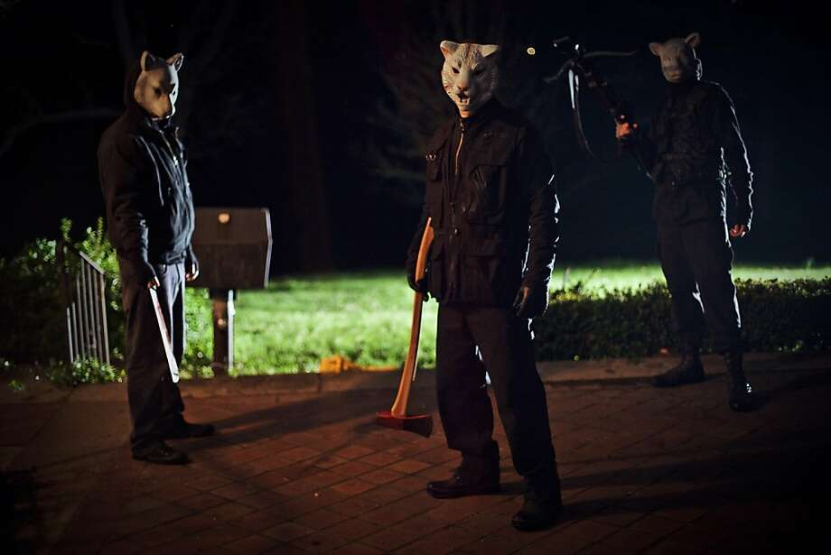 """You're Next"" features better performances than most slasher films offer, and the script offers surprises. Photo: Corey Ransberg, Lionsgate"