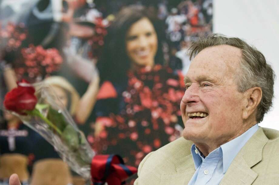 Former President George H.W. Bush was the target of 343 jokes by Jay Leno. Photo: Smiley N. Pool, Staff / © 2013  Houston Chronicle