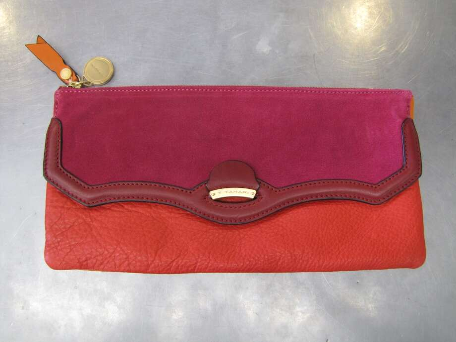 Gemma Clutch, T Tahari, $84.50, S & M Family Outlet, Beaumont Photo: Cat5