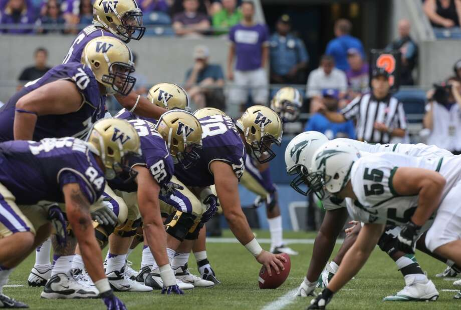 "Offensive line  If you're reading this preview and thinking: ""Wow, that's a lot of talent. How in the world were the Huskies 96th in total offense last season?"" -- first of all, you're very well informed. And we're about to get to the root of the problem.  Washington's line was supposed to be a strength last year, but injuries decimated the group from Week 1. While the linemen paved the way for Sankey's phenomenal rushing season, they also gave up 38 sacks, tied for 102nd in the country.  The good news is that all those injuries allowed a number of players to get in-game experience. Left tackle Micah Hatchie and right tackle Ben Riva return, as do five guards with starting experience: projected starters Dexter Charles and James Atoe, along with reserves Shane Brostek, Erik Kohler and Colin Tanigawa. Mike Christe moves inside from right guard to replace longtime starter Drew Schaefer at center.  Continuity is certainly important, and having to replace only one starter should mean the Huskies' offensive line is primed for a bounce-back season. But along with that continuity needs to come marked improvement, especially in pass-blocking, if the Washington offense is going to take a step forward.  Photo: Otto Greule Jr, Getty Images"