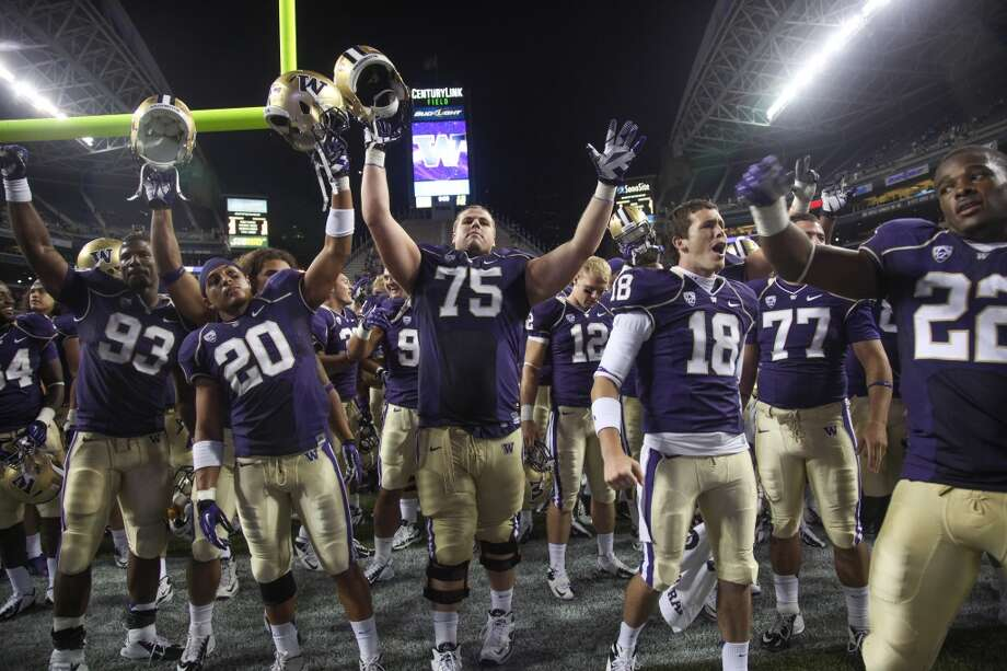Outlook  There are a lot of reasons to like Washington's offense this season. Outside of Eugene, there might not be a better group of skill-position players in the Pac-12 than Price, Sankey, Williams and Seferian-Jenkins. Add to that mix some explosive recruits, and the Huskies' offense has a chance to be downright scary.  But it's all for naught if the Washington's O-line doesn't show massive improvement from last year. If the Huskies' offense stalls with all these high-octane parts, Sark may be the one hitching a ride to a new destination.  Photo: Otto Greule Jr, Getty Images