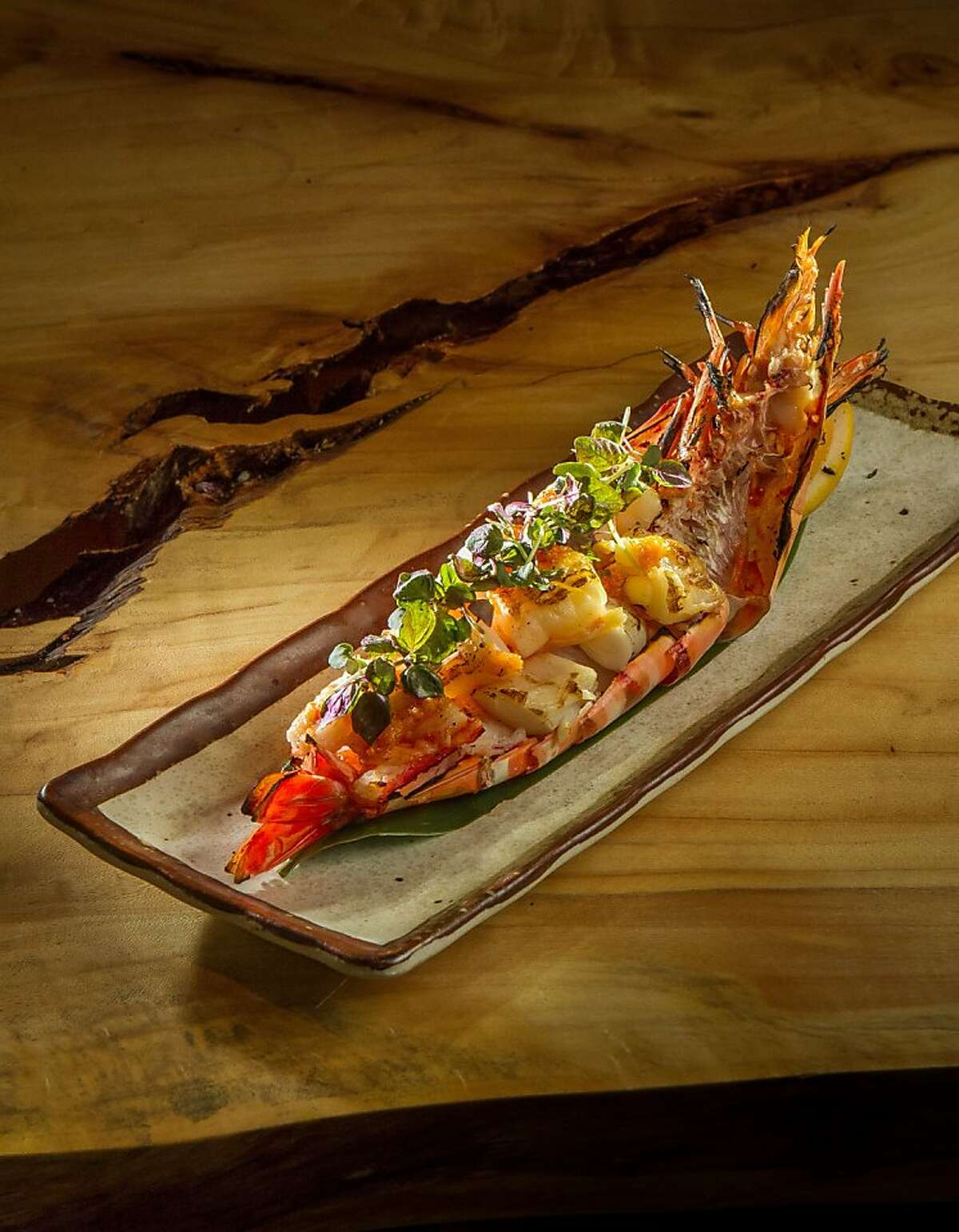 The Madagascan Tiger Prawns at Roka Akor in San Francisco, Calif., are seen on Friday, August 16th, 2013.