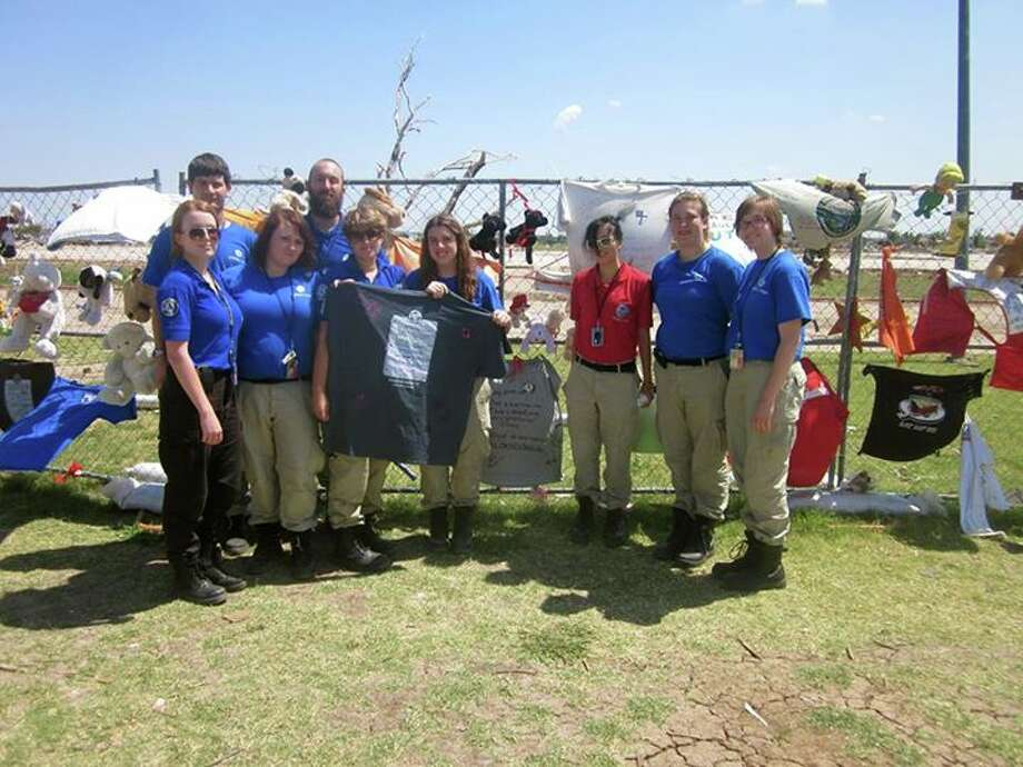 Taylor Mullikin, second from the right, has worked as a FEMA Corps member since February. Photo: Contributed