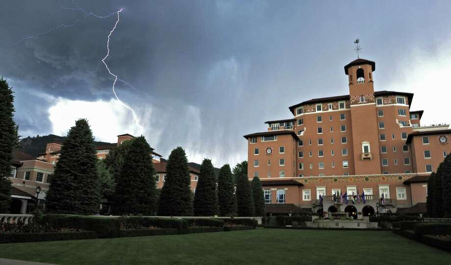 The Broadmoor, a resort in the foothills of the Rocky Mountains in Colorado Springs, Colo., is the site USAA selected for its three-day meeting of members and board of directors. Photo: Associated Press