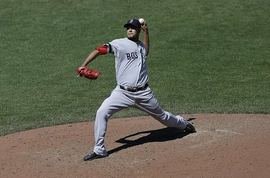 Boston Red Sox starting Felix Doubront throws against the San Francisco Giants during the eighth inning of a baseball game in San Francisco, Wednesday, Aug. 21, 2013. (AP Photo/Jeff Chiu) Photo: Jeff Chiu, Associated Press
