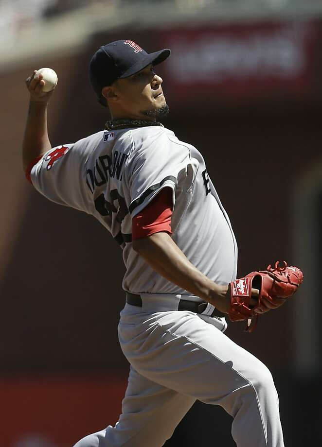Boston Red Sox starting Felix Doubront throws against the San Francisco Giants during the fifth inning of a baseball game in San Francisco, Wednesday, Aug. 21, 2013. (AP Photo/Jeff Chiu) Photo: Jeff Chiu, Associated Press