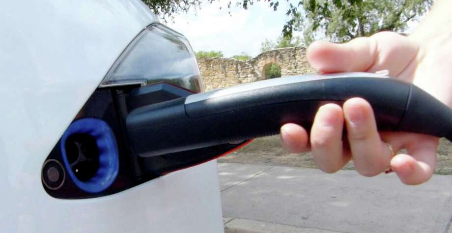 The charging port of a Tesla Model S sedan on Wednesday, Aug. 21, 2013. Photo: Billy Calzada, Staff / San Antonio Express-News