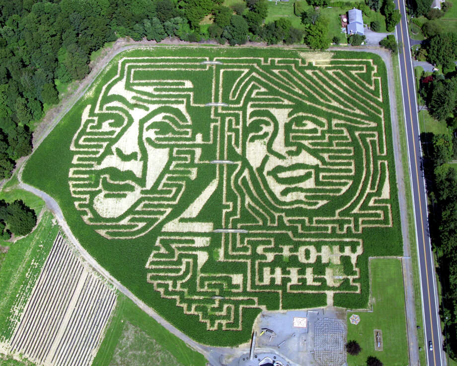 The Stony Hill Farm Market maze has taken a bipartisan turn this year to call attention to the election. Photo: Uncredited, HOEP / Stony Hill Farm Market