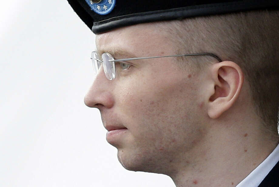 Pfc. Bradley Manning's sentence is the longest ever reported in a case involving a leak of U.S. government information. Photo: Patrick Semansky / Associated Press