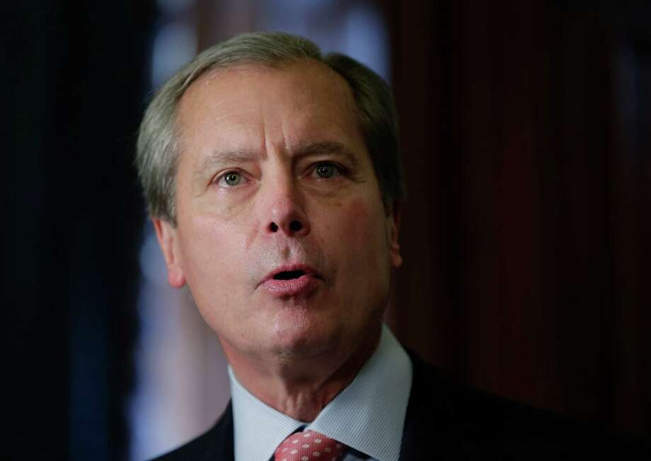 In this May 28, 2013 file photo, Lt. Gov. David Dewhurst  speaks during the signing of a water fund bill, in Austin, Texas. Now that the governor has called a special session, Dewhurst will get a chance to resurrect the anti-abortion legislation bill that failed earlier this week, but maybe not his political career.  (AP Photo/Eric Gay) Photo: Eric Gay, STF / AP