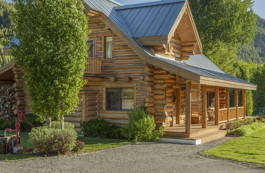 Cabin, close up. All photos via  Hall and Hall. http://hallhall.com/ranches-for-sale/properties/pioneer-moon-ranch